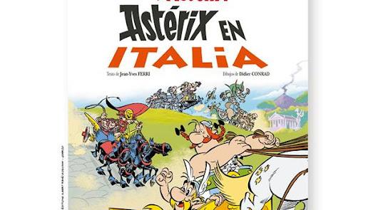 """Exposición de imágenes de """"Astérix en Italia"""" en la Escuela de Arte"""