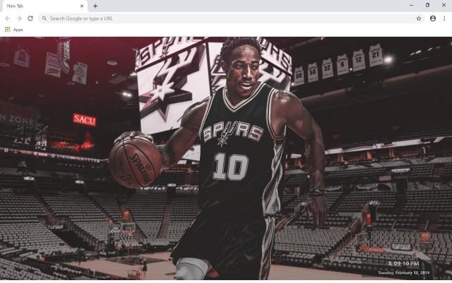 DeMar DeRozan NBA New Tab Theme