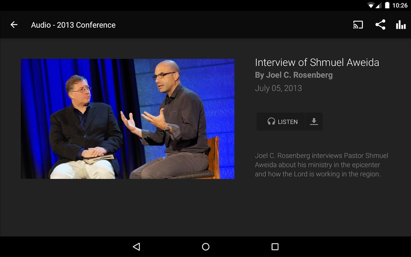 Epicenter Conference- screenshot