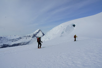 Photo: TJ and Vern start the ascent of North Twin.