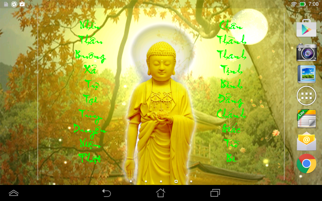 Falling Leaves Live Wallpaper Apps Android Amitabha Buddha Livewallpaper Android Apps On Google Play
