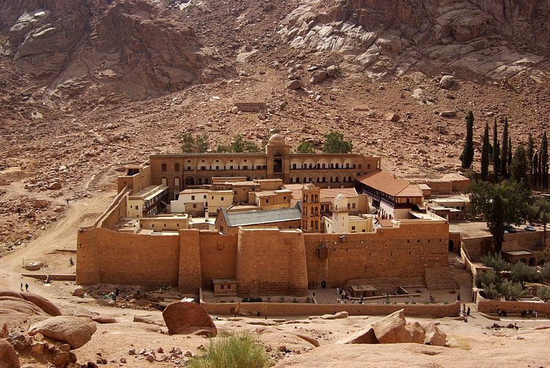 From the day it was founded, in the sixth century (between 548 and 565), the library of St. Catherine at Mount Sinai has never closed its doors.