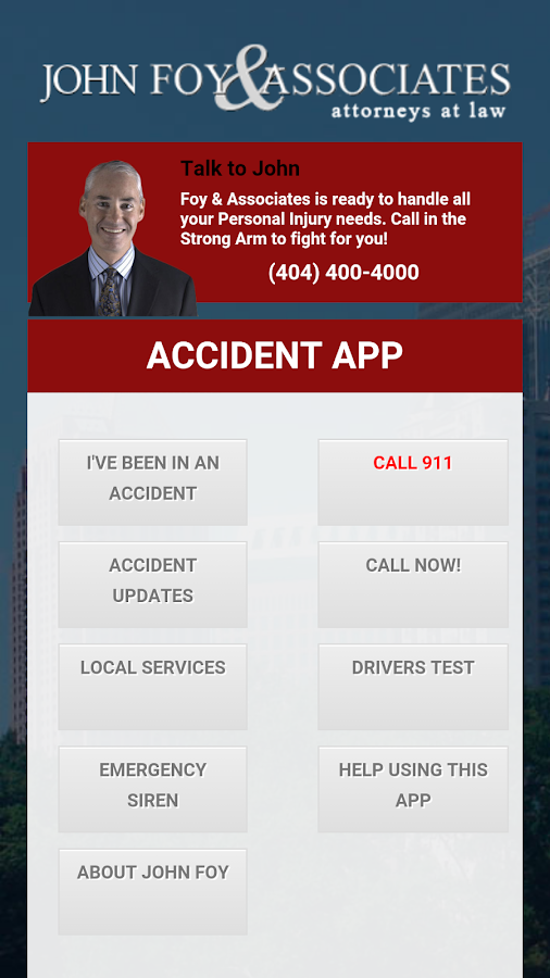 John Foy - Accident App- screenshot