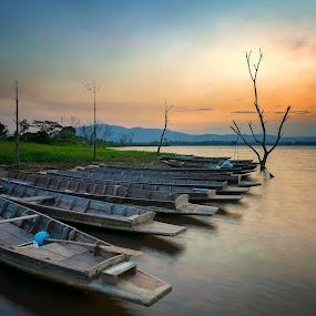Morning by Phattana Sangsawang - Landscapes Waterscapes