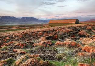 Photo: Red Fields on the Tundra - Iceland  Across the middle of Iceland, there are all sorts of terrain.  I don't know if this is specifically Tundra.  All my expertise in Tundra comes from Civilization where I know you can only grow one wheat, and sometimes there is a fur resource because of the seals.  When the sun is very low on the horizon, my normal temptation is to point the camera in that direction.  But in the opposite direction, when the light and terrain is right, it casts a faint reddish glow across the ground.  It's a very nice effect and I did my best to capture it.  from the blog at www.stuckincustoms.com