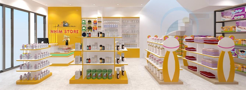 thiết kế shop mẹ và bé nhím store 5