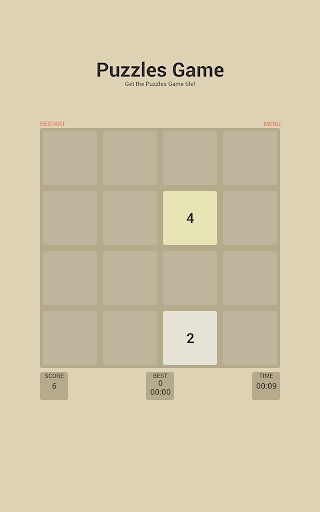 2048 Number Puzzle Game