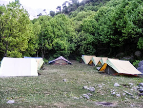 Photo: Camp site 1 at Handi Forest 5kms from Snow Monk Camp
