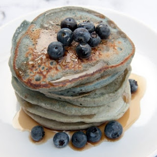 Vegan Blue-Berry Pancakes.