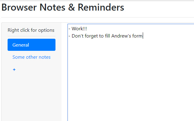 Browser Notes & Reminders