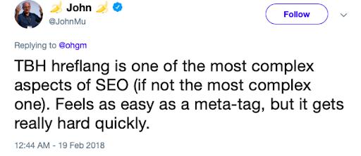 John Mu opinion on Hreflang tags