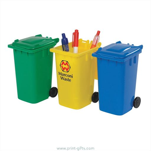 Eco Wheelie Bin Pencil Sharpener - Green