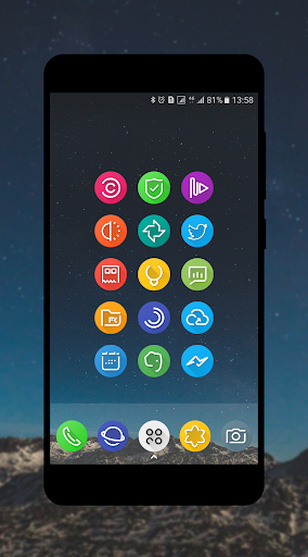 S8-UI Note 8Launcher Icon Pack- Nova, Apex, Action app for Android screenshot