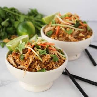 Instant Pot Thai Chicken Rice Bowl.