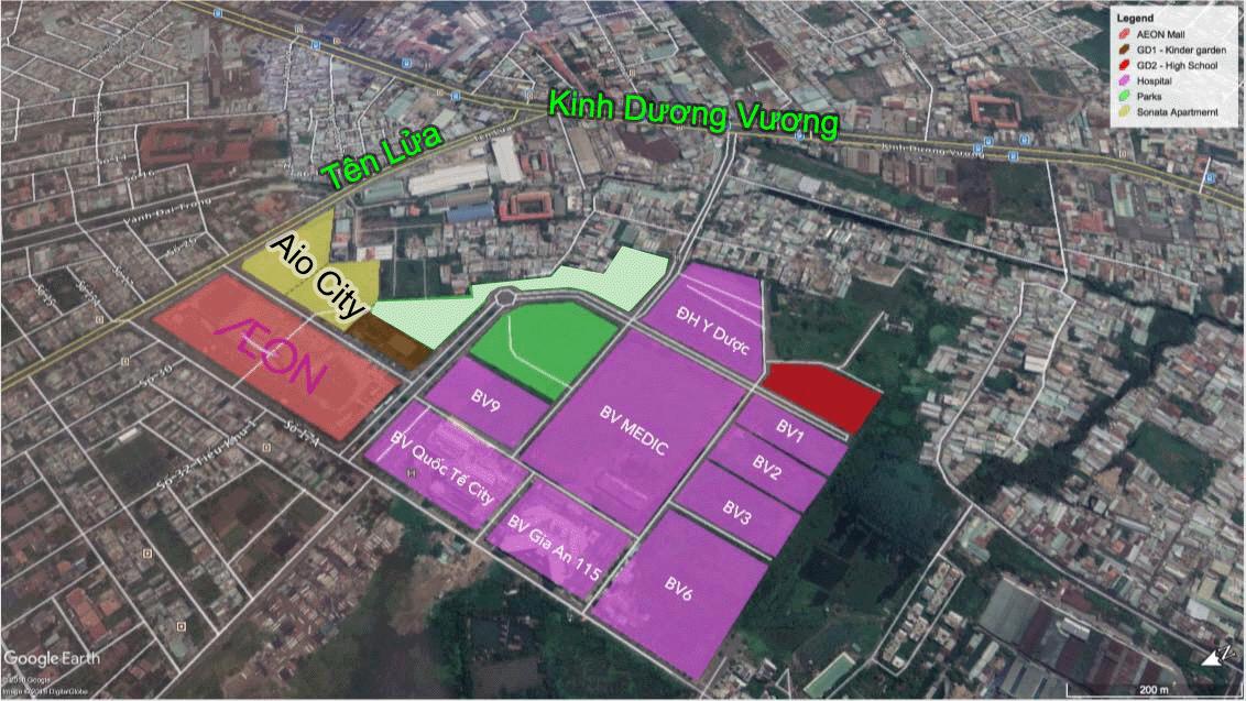 Vị trí vàng của dự án Aio City