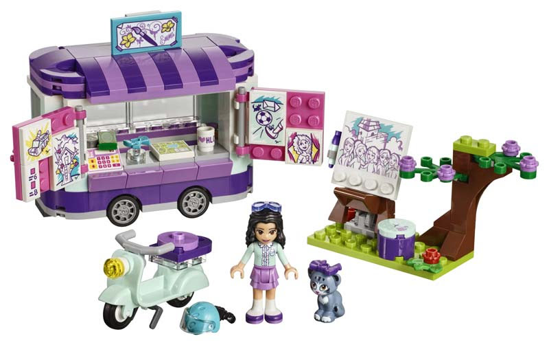 Contenido de Lego® 41332 Puesto de Arte de Enma