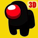 Black Imposter 3D - Crewmates Killer between Us icon