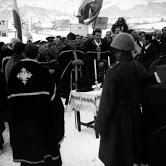 Похорон чехословацьких прикордонників, які загинули в сутичці з польськими диверсантами на Волівеччині. Кінець 1938 р