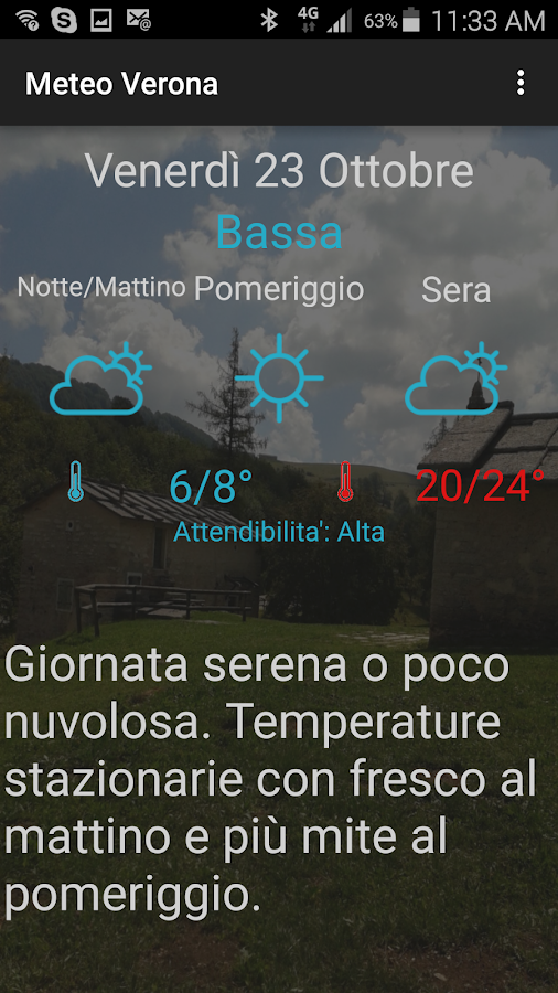 Meteo Verona- screenshot