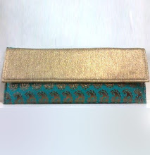 Photo: Blue and Beige Brocade Flap Clutch Bag  Itemcode: DTM4  Price: US$ 18.87  Shop @ http://www.utsavfashion.com/store/item.aspx?icode=dtm4