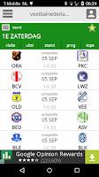 Screenshot of Voetbalnederland LiveUitslagen