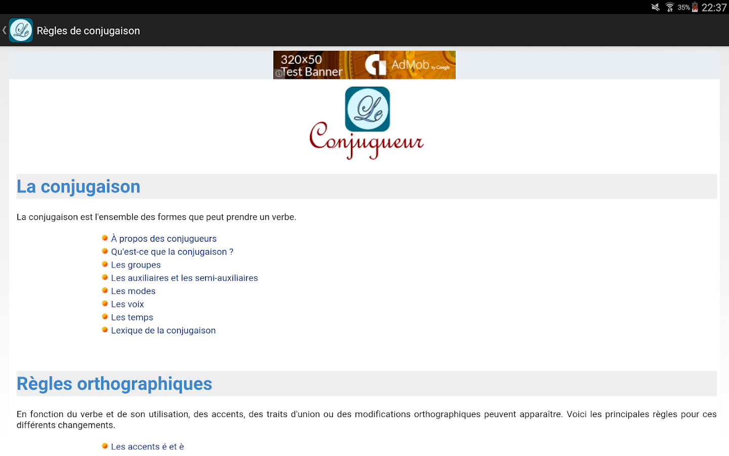 Le Conjugueur- screenshot