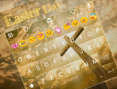 Easter Day Emoji Keyboard screenshot 4