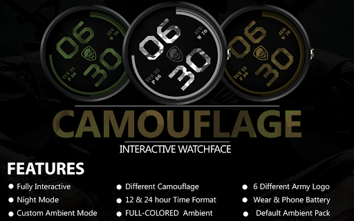 Camouflage Ranger Watch Face