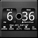 FlipClock BlackOut Widget 4x2 icon