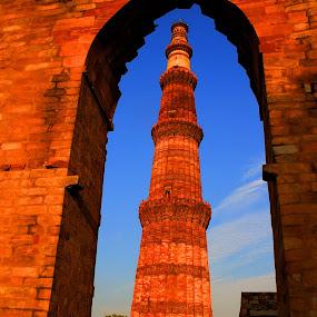 QUTUB MINAR by Suman Sengupta - Buildings & Architecture Public & Historical ( arcitecture travel delhi india hdr )