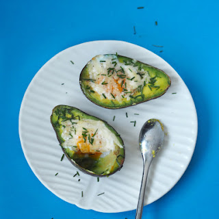 Stuffed Avocado With Egg And Parmesan