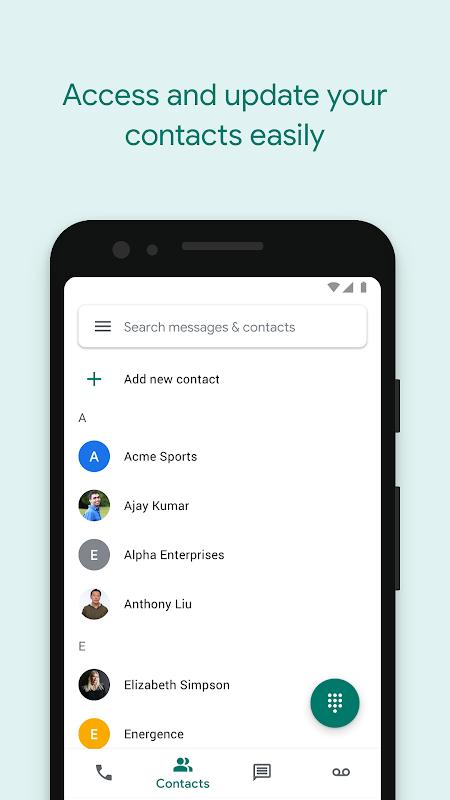 Google Voice screenshots