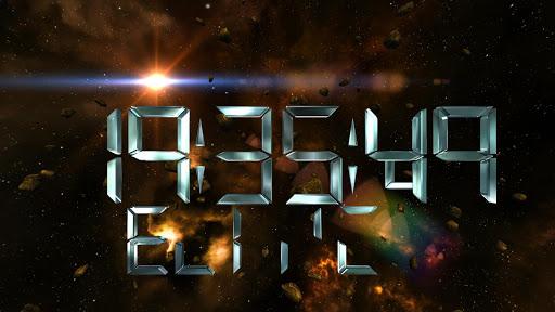 Space Clock 3D Free LWP