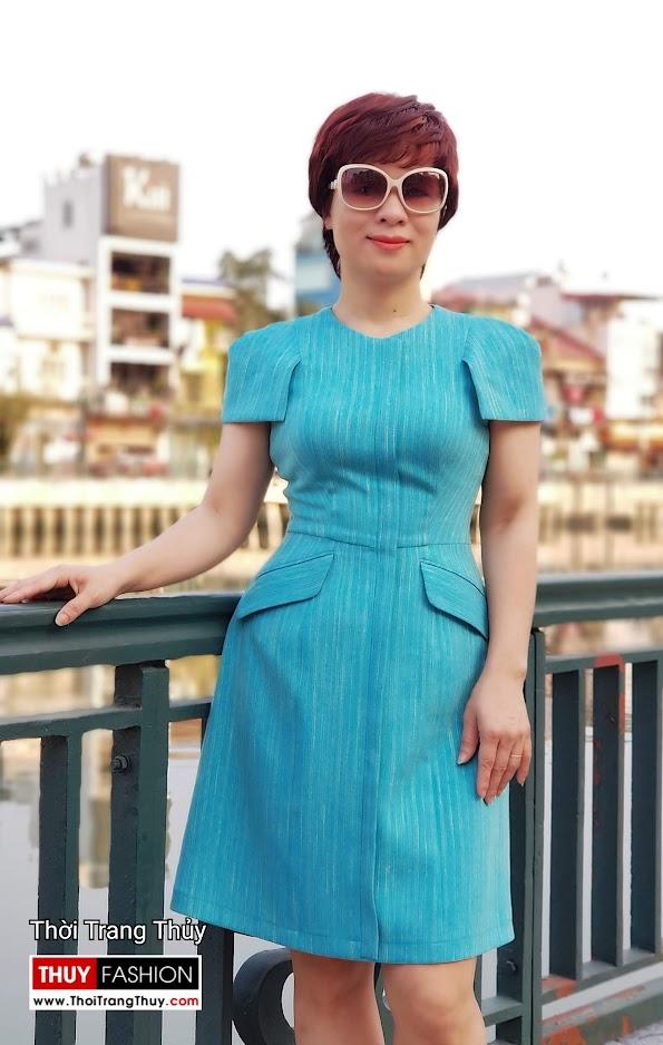 Váy xòe chữ A mặc công sở và dạo phố V700 thời trang thủy sài gòn
