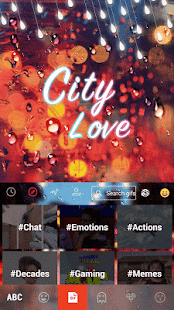 City-Love-Emoji-Keyboard-Theme 2