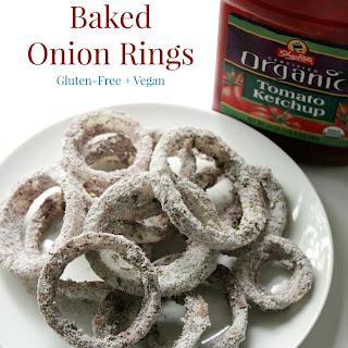 Blue Cornmeal Baked Onion Rings.