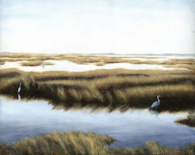 Photo: GULF MARSHES - oil on linen $1500.00 ... near Pine Island, Florida.