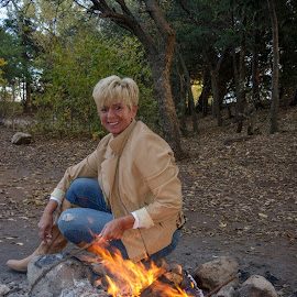 Campfire by Kathy Suttles - People Street & Candids
