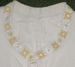Photo: Узор на святковій сорочці, конопля, с.Буштино, 1910 рї