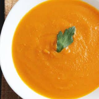Butternut Squash, Sweet Potato, Carrot Soup.