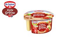 Angebot für Erdbeer-Rhabarber Grütze mit Bourbon-Vanille Soße im Supermarkt - Dr.Oetker