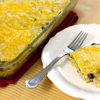 Vegetarian Black Bean and Corn Enchilada Casserole