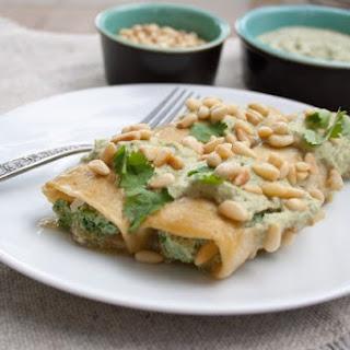 Spinach, Tofu, and Pine Nut Enchiladas