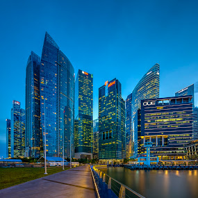 The City of Architecture by Binoy Uthup - Buildings & Architecture Office Buildings & Hotels ( city scene, night scene, singaporecbd, nightview, cityscape, nightshoot, singapore, city, nightscape, night shots, night photo, night view, city view, night photography, city lights, night, night shot, city skyline, nightscapes )