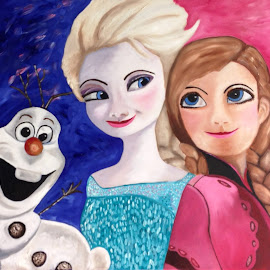 Frozen for Esmee. by Hannie Zwet van Der - Painting All Painting