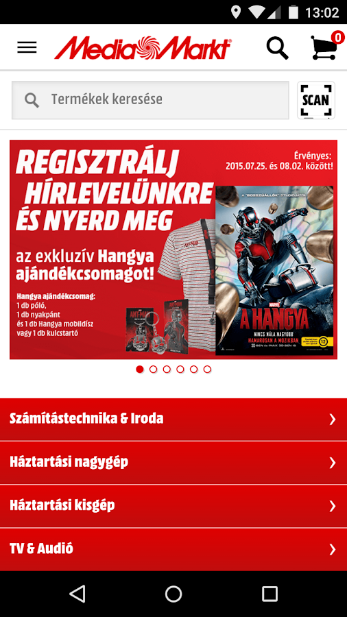Media Markt Hungary- screenshot