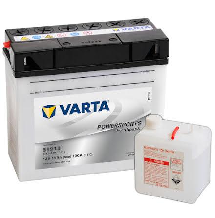 MC-batteri 19Ah Varta 51913 519013017 Powersports lxbxh=186x