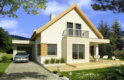 projekt Antoni wersja B pojedynczy garaż