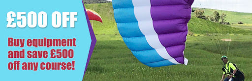 Paraglider Equipment and tuition packages deals