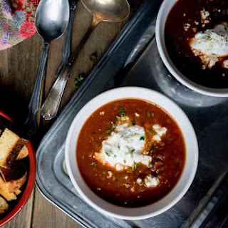 Smoky Tomato Soup with French Lentils.